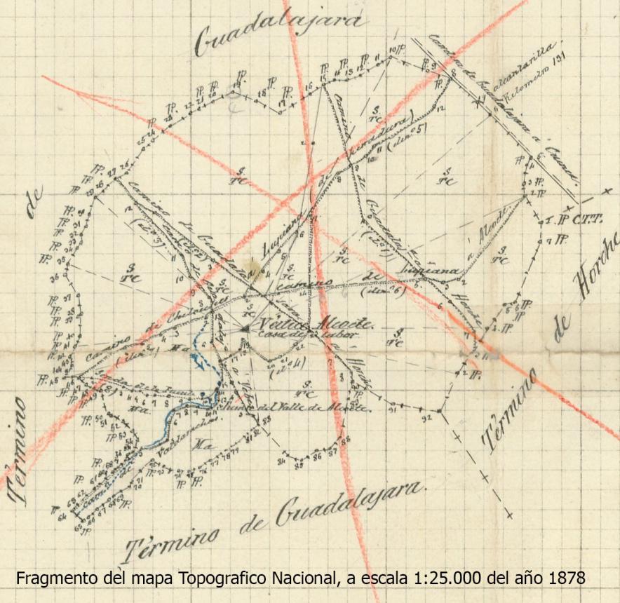 Cartografía S. XIX. Caminos y topónimos