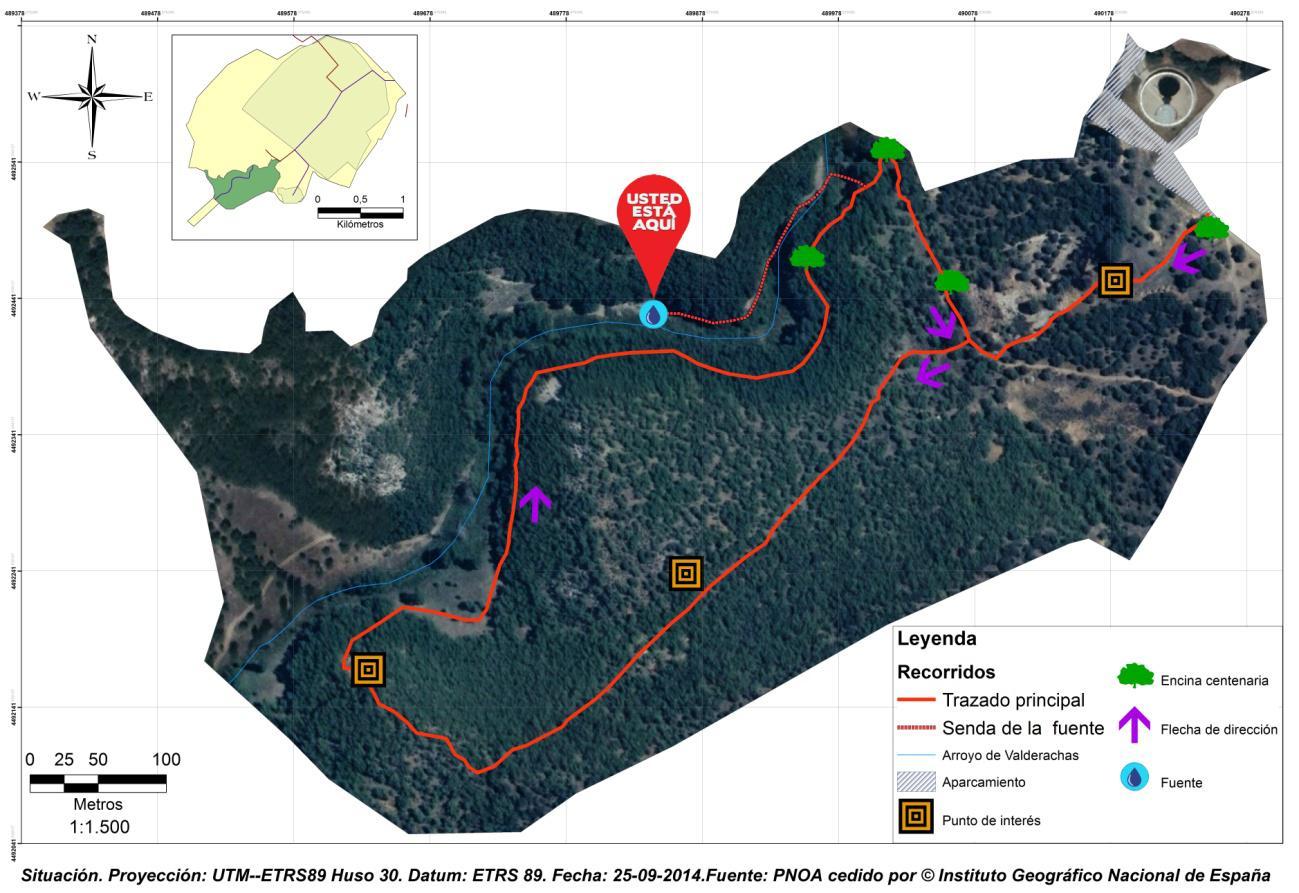 Mapa de la ruta Bosque de Valdenazar