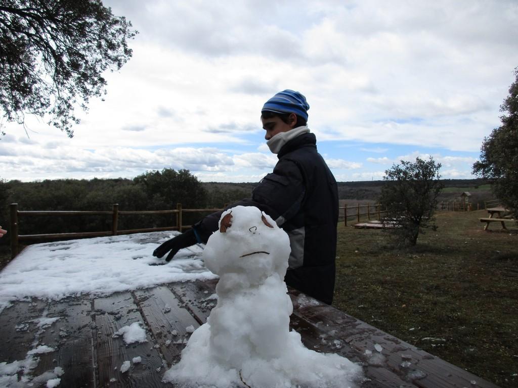 Con las nevadas, siempre aparecen muñecos de nieve